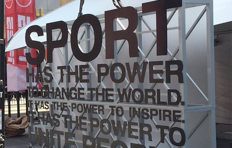 Again, the power of sport to impact the world!